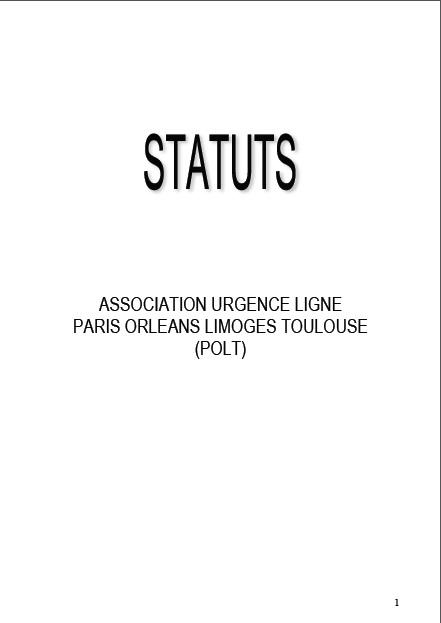 Les statuts d'Urgence Ligne POLT
